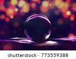 glass ball with abstract light...   Shutterstock . vector #773559388
