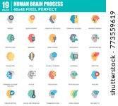 flat human brain process ... | Shutterstock .eps vector #773559619