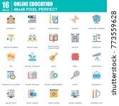 flat online education  e... | Shutterstock .eps vector #773559628
