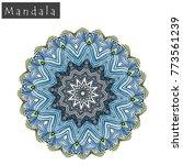 geometrical flower mandala sign.... | Shutterstock .eps vector #773561239