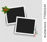 xmas photo frame with gradient... | Shutterstock .eps vector #773563144