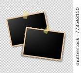 retro photo frame with gradient ... | Shutterstock .eps vector #773563150