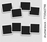 photo frame set with gradient... | Shutterstock .eps vector #773563798