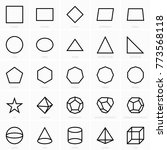 geometric figures icons | Shutterstock .eps vector #773568118
