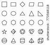 geometric figures icons   Shutterstock .eps vector #773568118