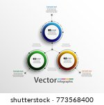 abstract infographics number... | Shutterstock .eps vector #773568400