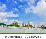 wall of the emerald buddha... | Shutterstock . vector #773569258