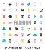 fashion icons set | Shutterstock .eps vector #773577526