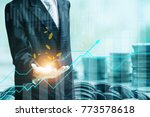 finance and investment concept... | Shutterstock . vector #773578618