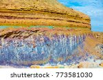 sandstone color bands in... | Shutterstock . vector #773581030