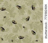 hand drawn oak and acorn leaves....   Shutterstock .eps vector #773582404