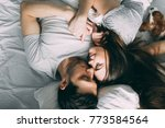 a photo session of a guy and a... | Shutterstock . vector #773584564