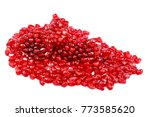pomegranate fruit isolated on... | Shutterstock . vector #773585620