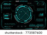 hud interface. futuristic panel.... | Shutterstock .eps vector #773587600