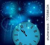 new year's eve illustration ... | Shutterstock .eps vector #773588134
