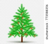 spruce with cones on... | Shutterstock .eps vector #773588356