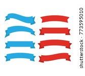 decor . ribbons banners flat...   Shutterstock . vector #773595010