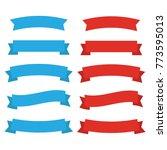 ribbons banners. decor flat.... | Shutterstock . vector #773595013