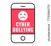 cyber bullying concept. flat... | Shutterstock .eps vector #773596570