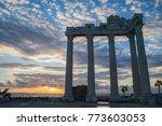 ancient apollo temple building... | Shutterstock . vector #773603053