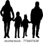 family black silhouettes. | Shutterstock .eps vector #773607628