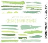 hipster paint brush strokes... | Shutterstock .eps vector #773609554