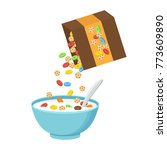 vector illustration. cereal... | Shutterstock .eps vector #773609890