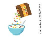 vector illustration. cereal...   Shutterstock .eps vector #773609890