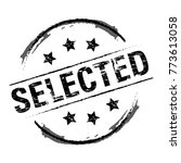 rubber stamp selected vector