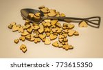 wooden hearts and miniature... | Shutterstock . vector #773615350