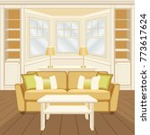 living room interior with sofa  ... | Shutterstock .eps vector #773617624