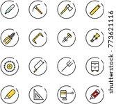 line vector icon set  ... | Shutterstock .eps vector #773621116