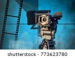 digital video camera. cinema... | Shutterstock . vector #773623780