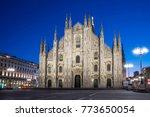 milan cathedral  duomo di...   Shutterstock . vector #773650054