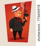 armed mafia boss character.... | Shutterstock .eps vector #773650978