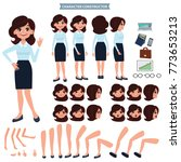 front  side  back view animated ... | Shutterstock .eps vector #773653213