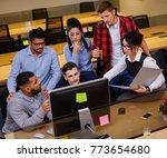 creative colleagues...   Shutterstock . vector #773654680