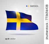 sweden 3d style glowing flag... | Shutterstock .eps vector #773656438