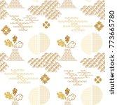 beautiful japanese seamless ... | Shutterstock .eps vector #773665780