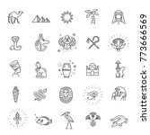 egypt icons and design elements ... | Shutterstock .eps vector #773666569