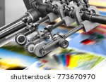 printing at high speed on... | Shutterstock . vector #773670970