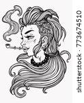 hand drawn beautiful artwork of ... | Shutterstock .eps vector #773674510