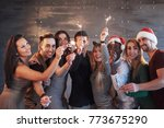 party with friends. group of... | Shutterstock . vector #773675290