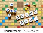 board games. home entertainment ... | Shutterstock . vector #773676979