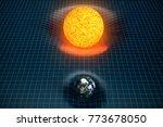 3d illustration earth's and sun ... | Shutterstock . vector #773678050