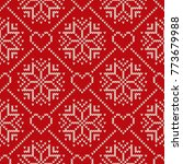 christmas holiday knitted...   Shutterstock .eps vector #773679988