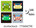 assembly of flat icons on theme ... | Shutterstock .eps vector #773686798