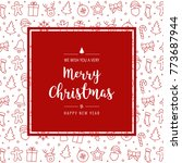 christmas red icon elements... | Shutterstock .eps vector #773687944