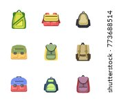 backpack icons set | Shutterstock .eps vector #773688514