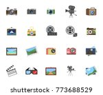 camera icon set | Shutterstock .eps vector #773688529